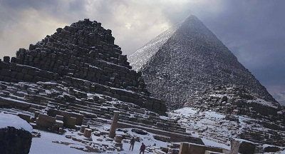 fake picture of snow on
